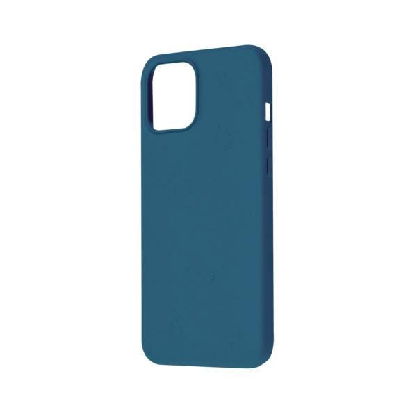 iPhone 12 Bio Hoesje Blauw Rechts