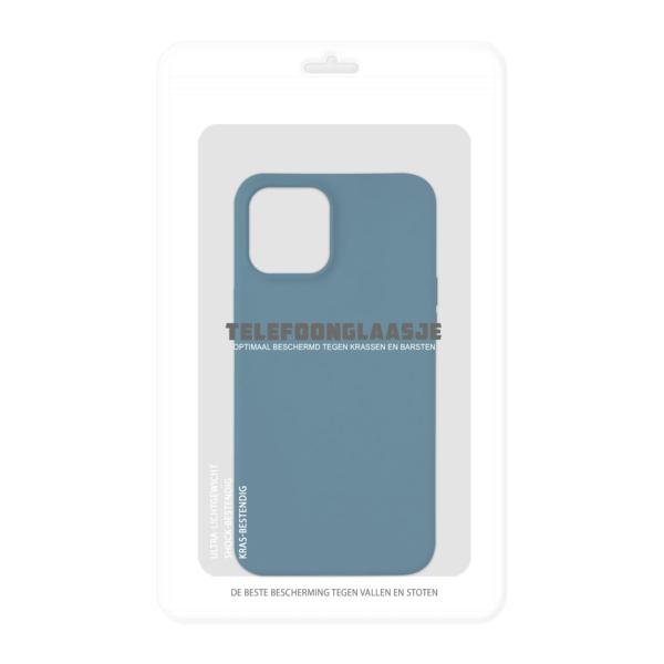 iPhone 12 Bio Hoesje Blauw in verpakking