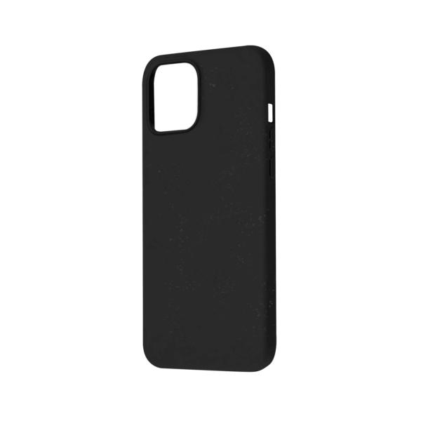 iPhone 12 Bio Hoesje Zwart Rechts