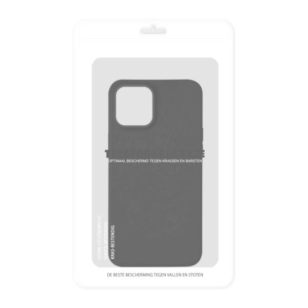 iPhone 12 Bio Hoesje Zwart in verpakking