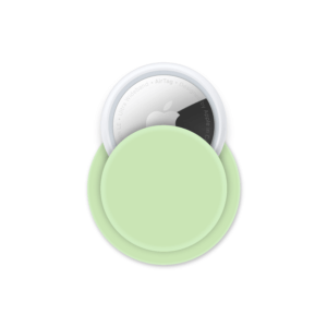 Apple AirTag siliconen sticky case - Groen