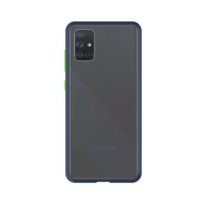 Samsung Galaxy A71 case - Blauw/Transparant