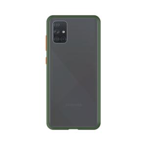 Samsung Galaxy A71 case - Groen/Transparant