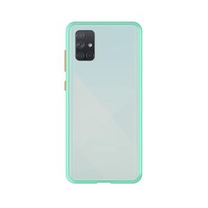 Samsung Galaxy A71 case - Lichtblauw/Transparant