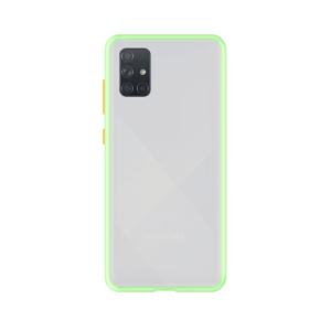 Samsung Galaxy A71 case - Lichtgroen/Transparant