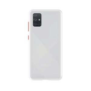 Samsung Galaxy A71 case - Wit/Transparant