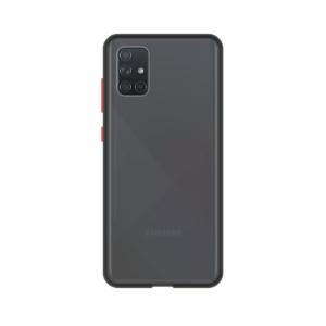 Samsung Galaxy A71 case - Zwart/Transparant