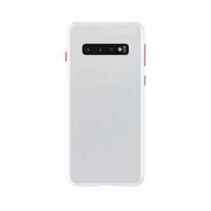 Samsung Galaxy S10 Plus case - Wit/Transparant
