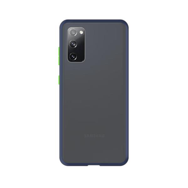 Samsung Galaxy S20 case - Blauw/Transparant