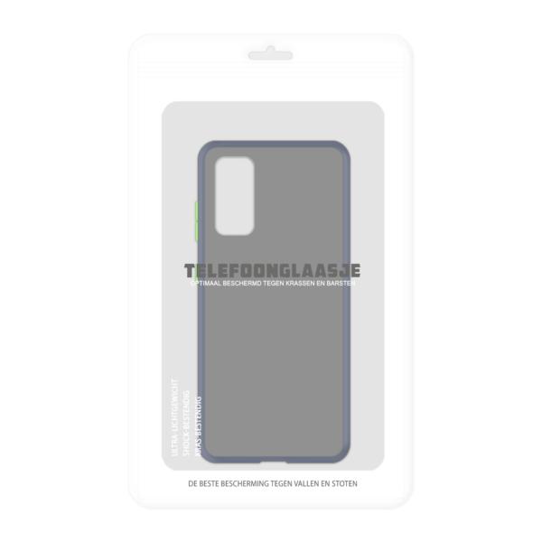 Samsung Galaxy S20 case - Blauw/Transparant - In Verpakking