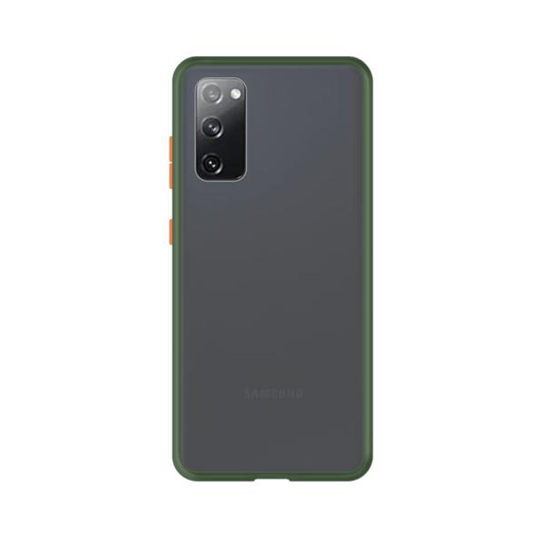 Samsung Galaxy S20 case - Groen/Transparant