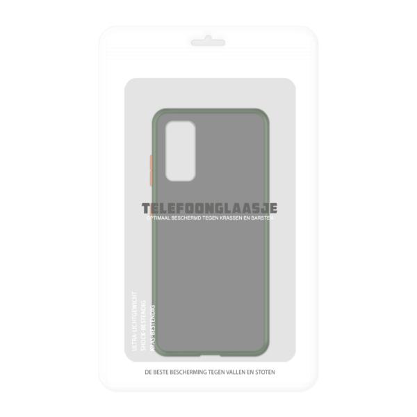 Samsung Galaxy S20 case - Groen/Transparant - In Verpakking