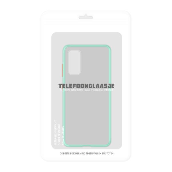 Samsung Galaxy S20 case - Lichtblauw/Transparant - In Verpakking