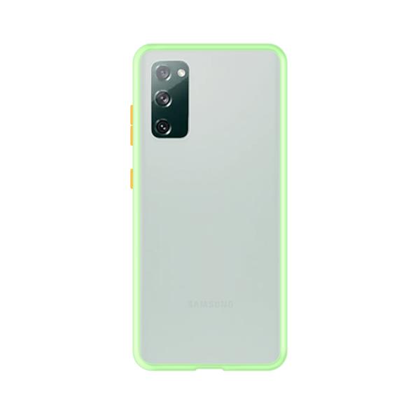 Samsung Galaxy S20 case - Lichtgroen/Transparant