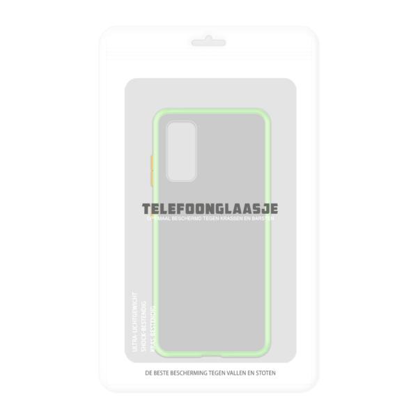 Samsung Galaxy S20 case - Lichtgroen/Transparant - In Verpakking