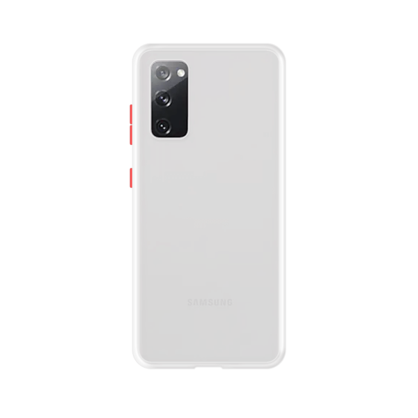 Samsung Galaxy S20 case - Wit/Transparant