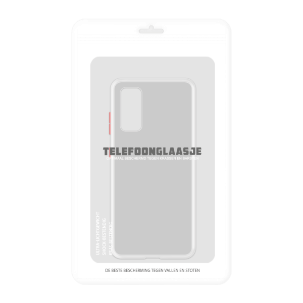 Samsung Galaxy S20 case - Wit/Transparant - In Verpakking