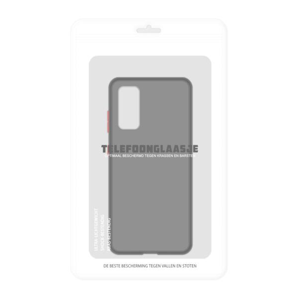 Samsung Galaxy S20 case - Zwart/Transparant - In Verpakking