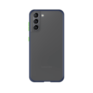 Samsung Galaxy S21 Plus case - Blauw/Transparant