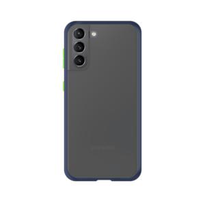 Samsung Galaxy S21 case - Blauw/Transparant