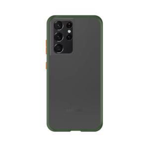 Samsung Galaxy S21 Ultra case - Groen/Transparant