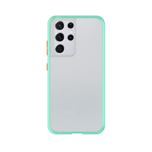 Samsung Galaxy S21 Ultra case - Lichtblauw/Transparant
