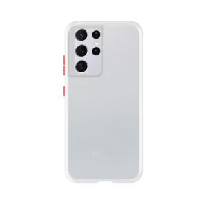 Samsung Galaxy S21 Ultra case - Wit/Transparant