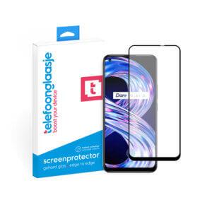 Realme 8 4G Screenprotector Edge to Edge