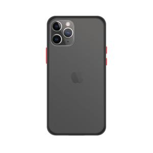 iPhone 11 Pro Max case - Zwart/Transparant - Buitenkant