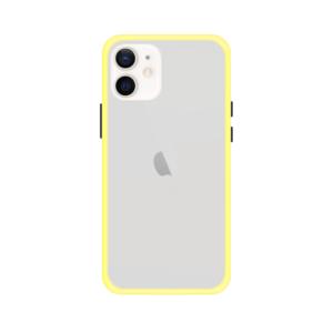 iPhone 12 Mini case - Geel/Transparant