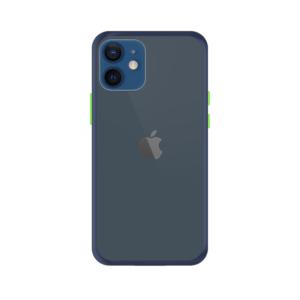iPhone 12 Mini case - Blauw/Transparant