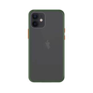 iPhone 12 Mini case - Groen/Transparant
