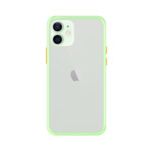iPhone 12 Mini case - Lichtgroen/Transparant