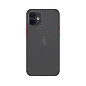 iPhone 12 Mini case - Zwart/Transparant
