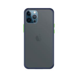 iPhone 12 Pro Max case - Blauw/Transparant