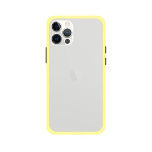 iPhone 12 Pro Max case - Geel/Transparant