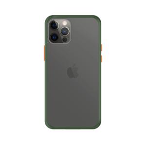 iPhone 12 Pro Max case - Groen/Transparant