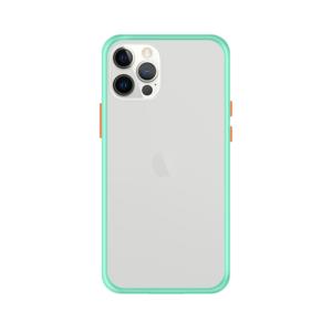 iPhone 12 Pro Max case - Lichtblauw/Transparant