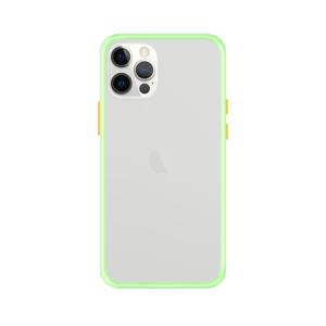 iPhone 12 Pro Max case - Lichtgroen/Transparant