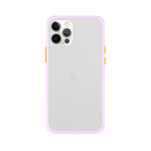 iPhone 12 Pro case - Paars/Transparant