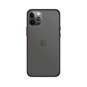 iPhone 12 Pro case - Zwart/Transparant
