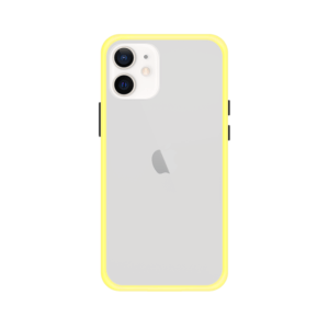 iPhone 12 case - Geel/Transparant