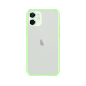 iPhone 12 case - Lichtgroen/Transparant