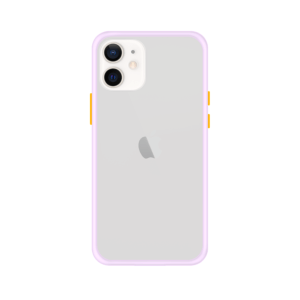 iPhone 12 case - Paars/Transparant