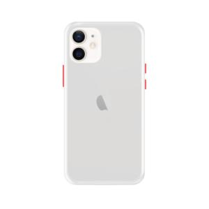 iPhone 12 case - Wit/Transparant
